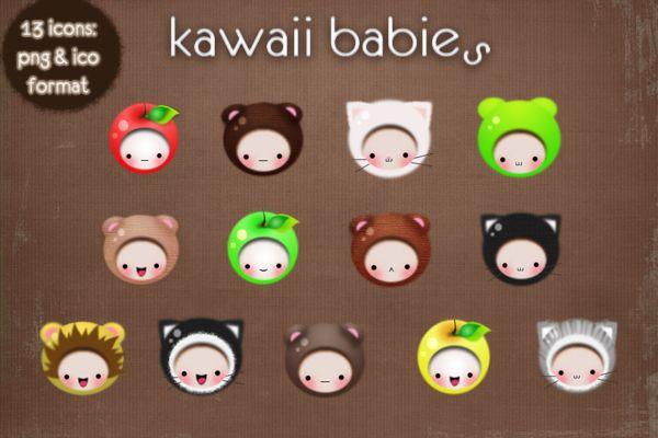 kawaii babies icons by ~kittenbella on deviantART