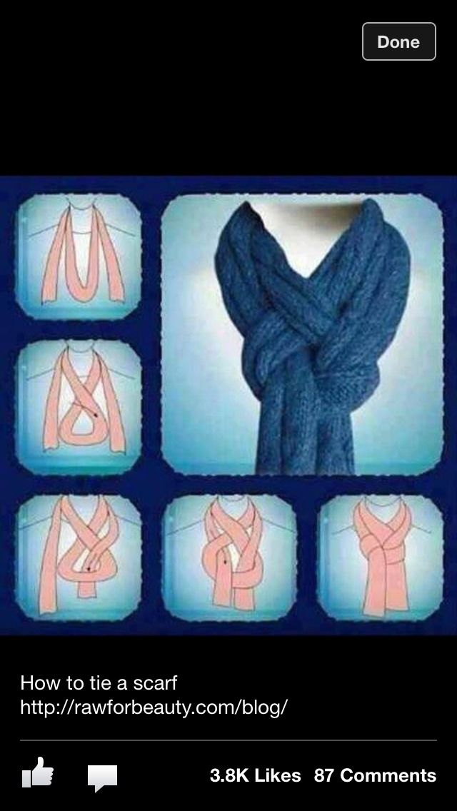 Really Pretty Scarf Trick!! Must Try! Love it!