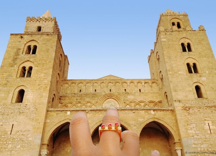 """Reciprocity to my land.  I'm pleased to introduce Cylinders, the first Ring of my """"Geometric Obsession"""" New Jewellery Collection. For orders please contact: info@danielacoppolino.com 9K Gold and 3 Natural Rubies. #jewels #jewelry #gold #rubies #ring  #design #architecture #sicily #cefalù"""