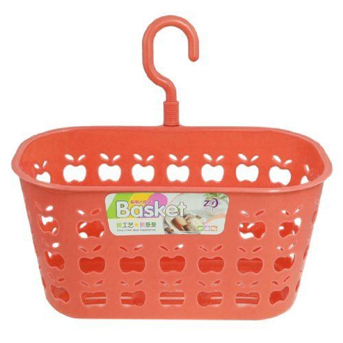 """Amico Watermelon Red Plastic Perforated Apple Shape Pattern Single Hook Hanging Basket by Amico. $5.07. Hook Size : 8 x 4.5 x 0.8 cm / 3.1"""" x 1.77""""x 0.3"""" (L*W*T). Net Weight : 73g. Product Name : Hanging Basket;Material : Plastic. Package : 1 x Hanging Basket. Main Color : Watermelon Red;Basket Size : 20.5 x 11 x 10 cm / 8"""" x 4.3"""" x 3.9"""" (L*W*H). Watermelon red plastic hanging basket, features perforated apple shape, single rotatable hooks. Widely used in home kitc..."""