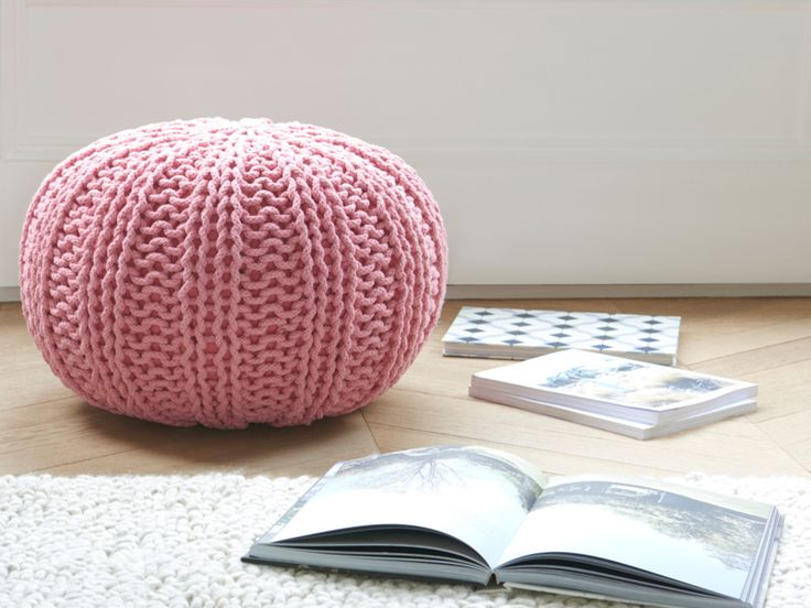 Hand-Knitted Rope Pouffe   Bug   Loaf