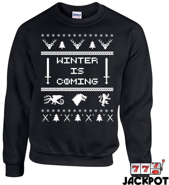Hey, I found this really awesome Etsy listing at https://www.etsy.com/listing/212511792/winter-is-coming-sweater-ugly-christmas
