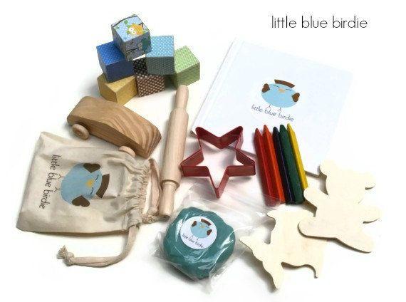Toddler Travel  Activity Kit Boys Set by thelittlebluebirdie, $29.00