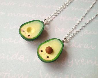Bff Avocado Necklace Vegan Jewelry Kawaii Charms