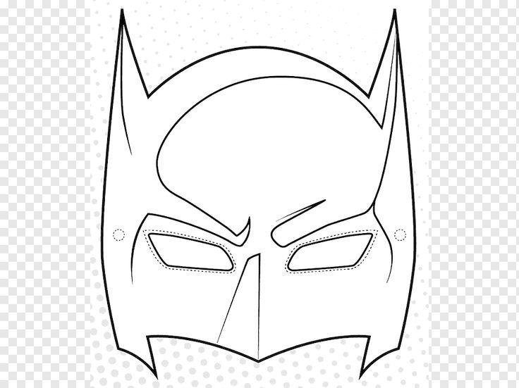 Máscara de Batman libro para colorear dibujo de superhéroe ...