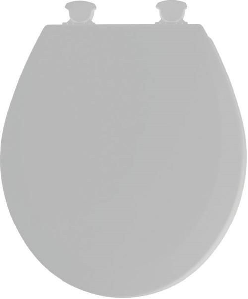 Mayfair 41EC 162/46EC Molded Wood Toilet Seat with Lift-Off Hinges, Round, Silver
