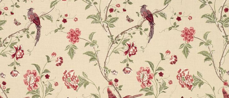 summer palace cranberry red floral linen curtain fabric at laura ashley curtains pinterest. Black Bedroom Furniture Sets. Home Design Ideas