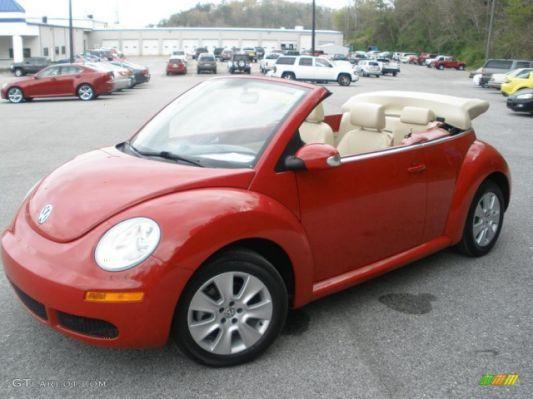 Volkswagen Beetle Red Convertible