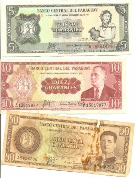 La moneda de Paraguay se llama el guaraní. Los guaranies son un grupo de indígenas en Paraguay.