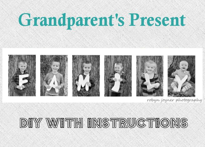 FAMILY~Grandparent Christmas Present.  All the grandkids together