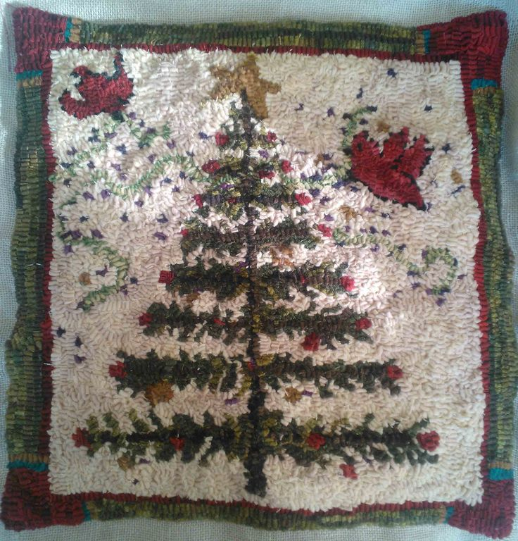 Woolly Goos Commissioned Folkart Christmas Pillow