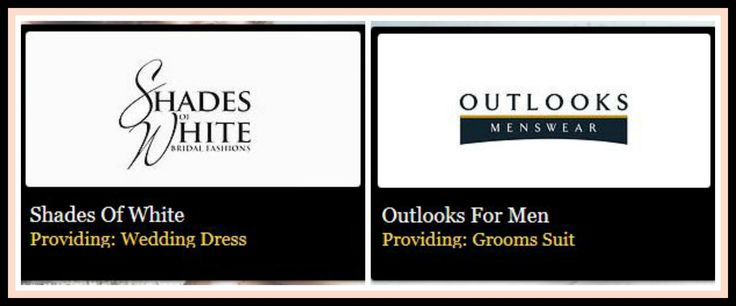 A Huge Thank You To The Following Exhibitors Shades of White, Outlooks for Men