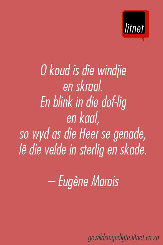 """""""Winternag"""" deur Eugène Marais #afrikaans #gedigte #nederlands #segoed #dutch #suidafrika"""