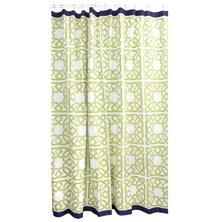 Modern Bath Linens | Parish Shower Curtain | Jonathan Adler