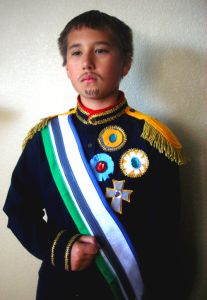 Well, actually he's supposed to be Dom Pedron II, a Brazilian emperor. He's doing a cultural report on Brazil for school and needed me to make a last minute costume. At first I thought,…