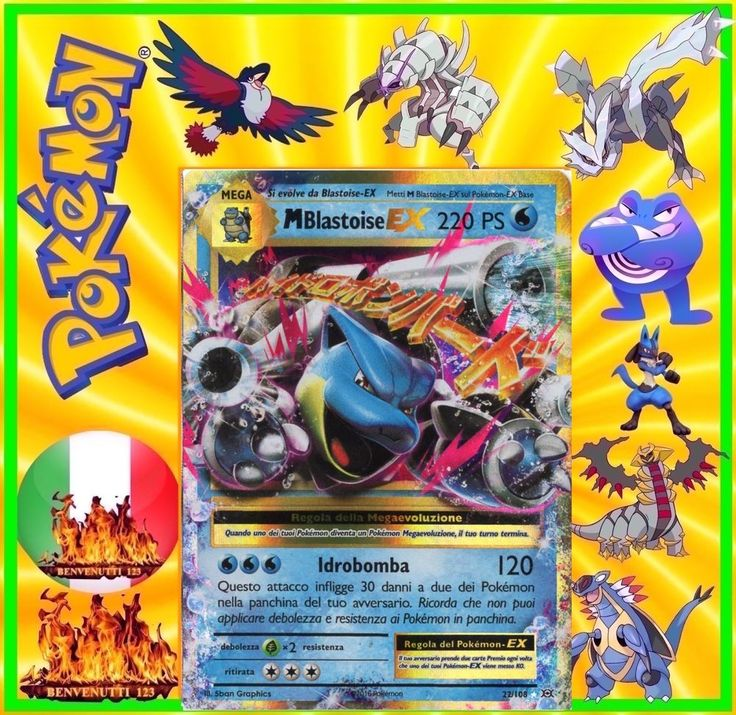 Pokemon, mega blastoise ex, 22/108 in italiano
