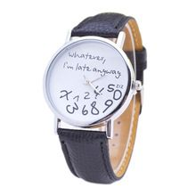 Esfera de oro Lo Que Llego Tarde de Todos Modos Letras Reloj Business Casual Y Simple Moda de Cuero Reloj de Cuarzo Relojes Mujer(China (Mainland))