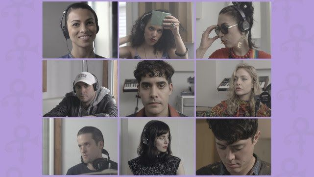 """NEON INDIAN AND FRIENDS perform """"Pop Life"""" by Prince.  Featuring Holy Ghost, Kristin Kontrol, Ejecta, Xenia Rubinos, Adeline from Escort, Hannah Cohen and Midnight Magic. Co-directed and produced by Alan Palomo and Jim Larson."""