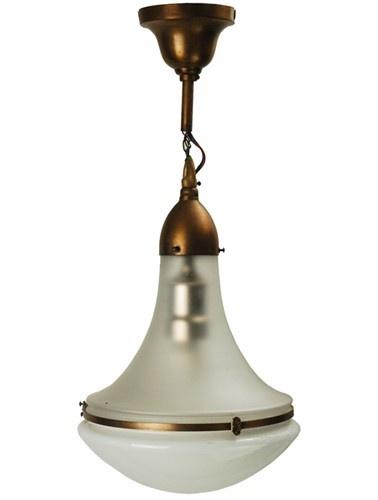 Peter Behrens Era Secessionist Design Industrial Ceiling Lamp   #GISSLER #interiordesign