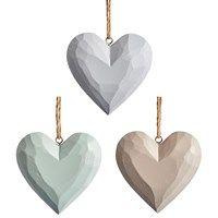 Elsa large carved heart hanging decoration