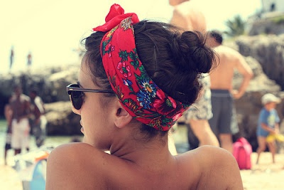 floral bandana. need to try out this summer.