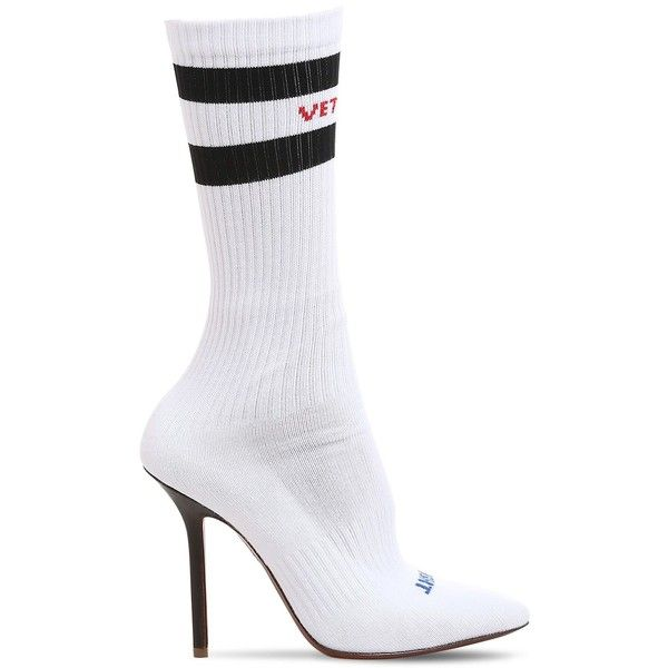 e6390e3b0a6 Vetements Women 110mm Knit Sock Pump Boots ($1,270) ❤ liked on ...