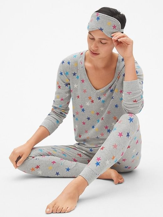 ef1f7caa3f1 Ribbed PJ Set with Eye Mask