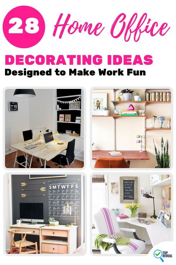 28 home office decorating ideas designed to make work fun rh pinterest com