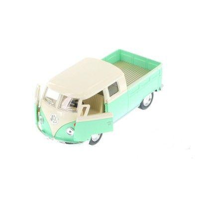 Bil i metall och plast - Volkswagen Bus Double Cab Pick Up (1963) - grön