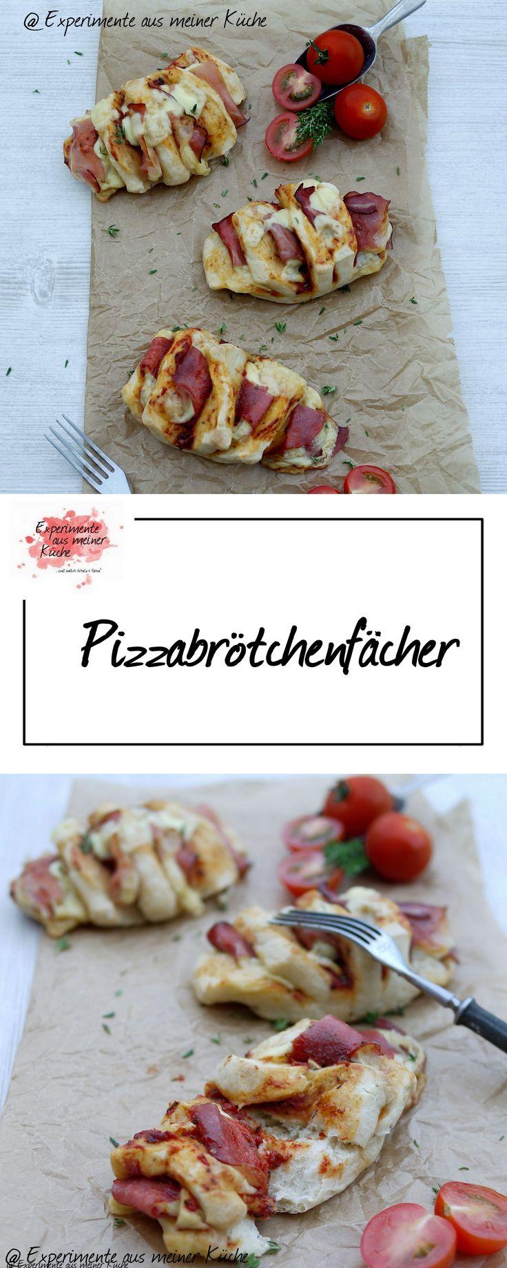 Pizzabrötchenfächer | Rezept | Essen | Fingerfood | Party
