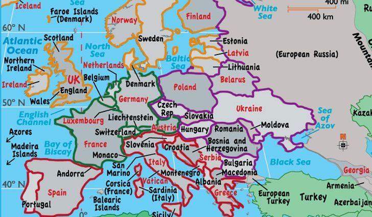 Europe Europe Map Poland Germany England Germany