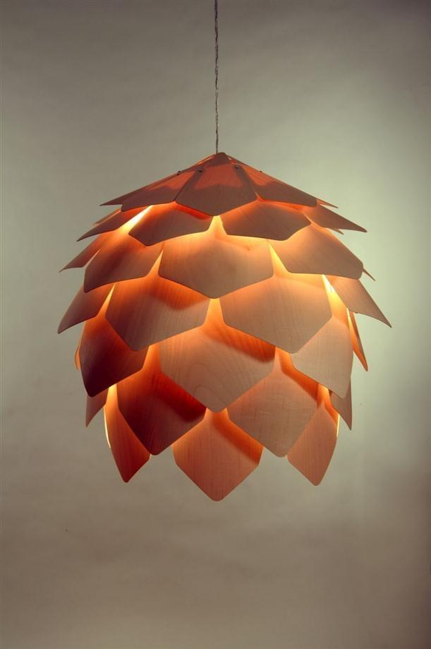 Nice Crimean Pinecone Lamp By Pavel Eekra.