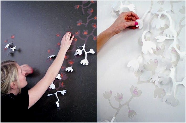 Hanna Nyman, a Swedish designerhas made her <strong>wallpaper designs</strong> not only interactive but 3-D as well. Users are able to peel back whichever sections of her wallpaper to create their own versions of wallpaper sculptural art. The wallpapers are truly innovative for they deliver texture and style as a package deal! Her designs have a floral theme and use just the sort of colours which will appeal to those who prefer contemporary designs.<!--more-