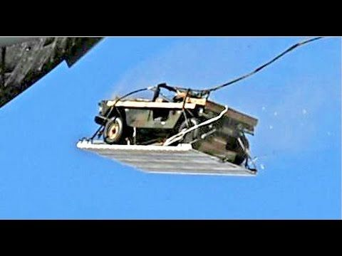 THIS IS HOW US Military Aircraft Air Drops Military Vehicles - YouTube