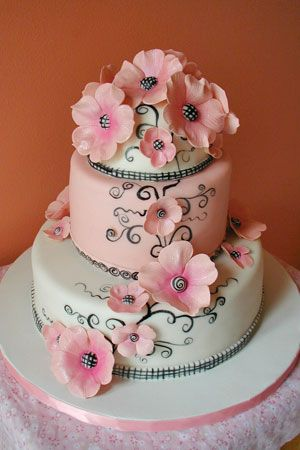 So many wedding cake ideas... you will either have fun with all the choices or go crazy making up your  mind :D