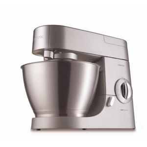 KENWOOD - KMC570 _ Robot Chef - Livré avec un blender en verre - Variateur de vitesse - Couvercle anti-projection - Capacité du bol 4.6 L pour 2.27 kg de pâte à gâteaux, 2.18 kg de pâte lourde, 12 blancs d'oeufs, 680 g de farine pour pâtisserie - Touche Pulse - Sortie planétaire + sortie lente + sortie rapide - Livré avec spatule et suggestions de recettes - Coloris Inox satiné - Taille 40 L x 23 P x 30 H - Poids Net 10.33 kg - Garantie 1 an.