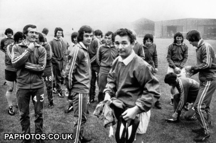 Brian Clough's infamous first training session with Leeds United Players 1974.