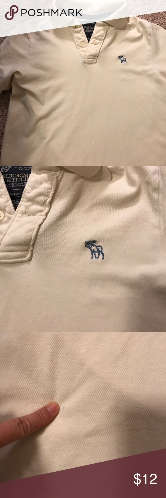 Abercrombie men's polo size small excellent Men's size small polo. A few small marks from normal wear. I tried to show them in the picture they might come out. Abercrombie & Fitch Shirts Polos