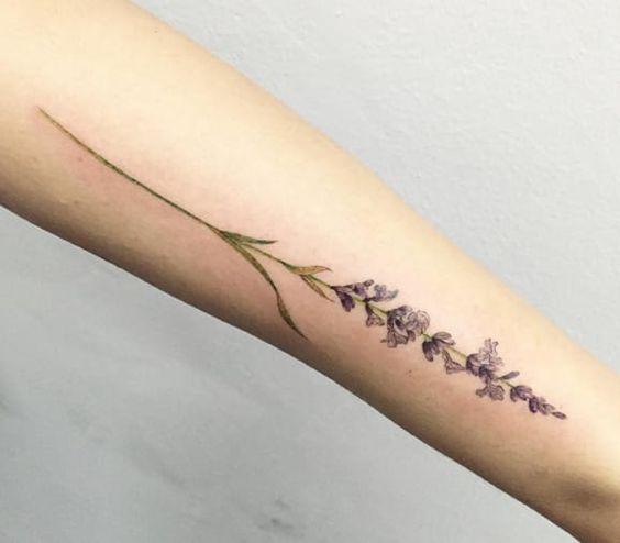 30 Perfect Purple Lavender Tattoos