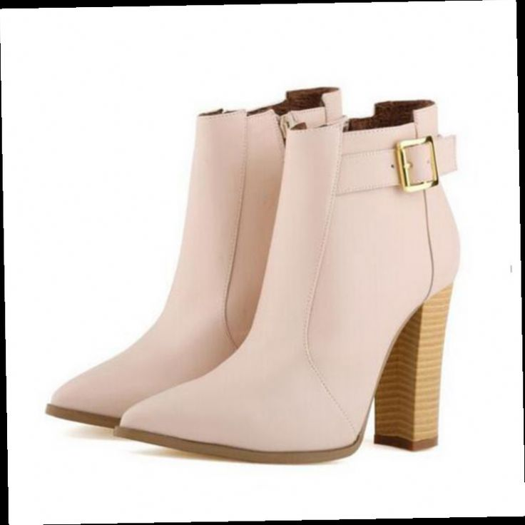 45.00$  Watch here - http://alikv4.worldwells.pw/go.php?t=32521122142 - Fashion Women Boots High Thick Square high heels Wood Grain Matt Leather Boots Ladies Shoes Botas Big Size 35-42  w876 45.00$
