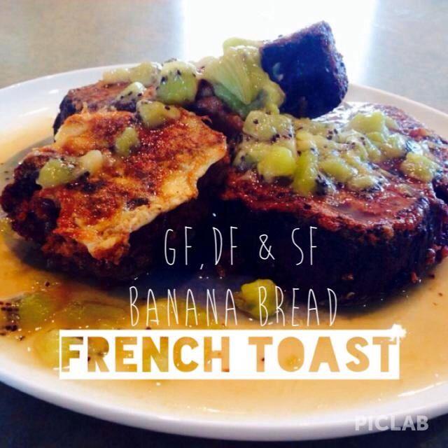 Walnut & Banana Bread 'French Toast' - Fleurtations with Food