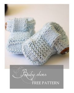 Knit baby shoes tutorial
