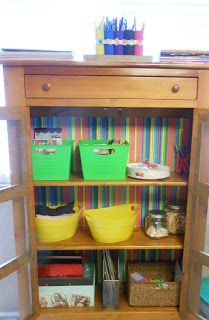 17 best images about diy kid craft ideas on pinterest for Arts and crafts storage cabinet