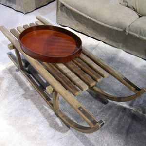 table basse luge en bois pin cir monty hanjel chalet pinterest id es. Black Bedroom Furniture Sets. Home Design Ideas