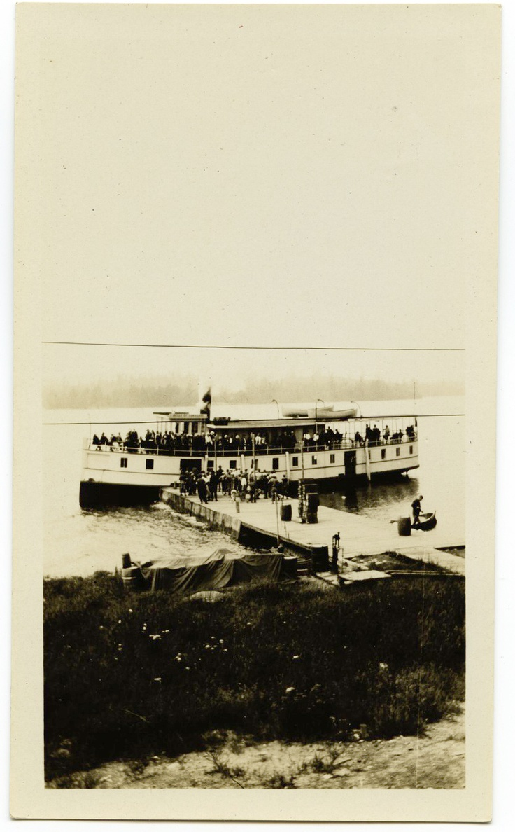 2 photos - Steamer Belle of Temagami and Hudson Bay Post, Bear Island Temagami $80 USD