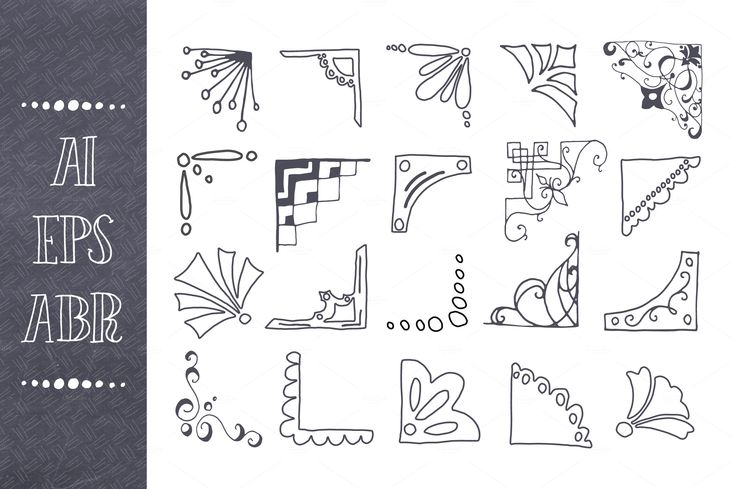 Picture Corner Vector & Brush Pack by The Pen & Brush on @creativemarket
