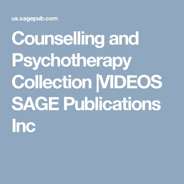 Counselling and Psychotherapy Collection |VIDEOS SAGE Publications Inc