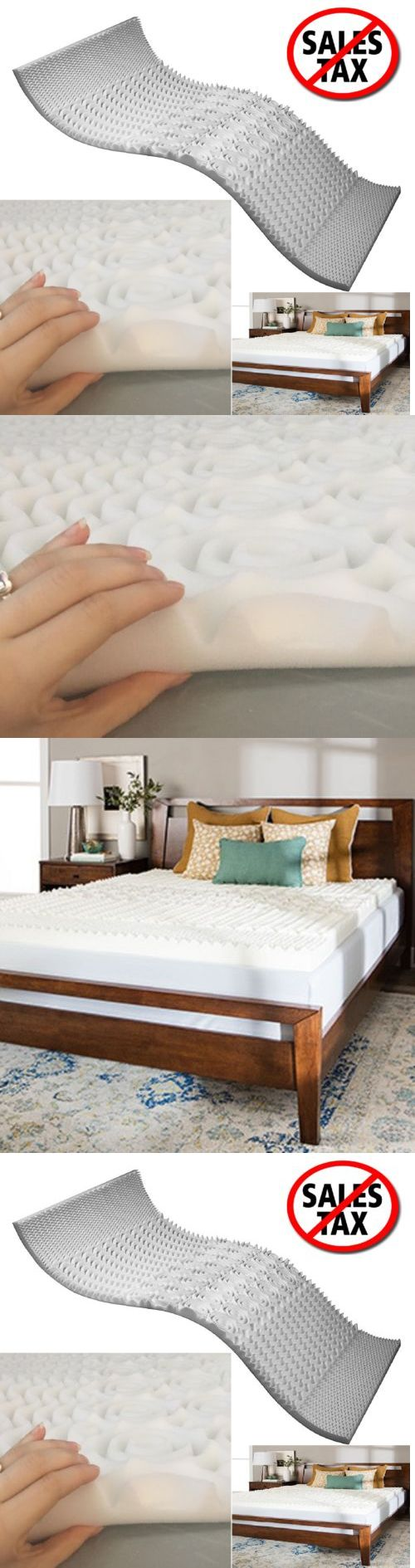 Mattress Pads and Feather Beds 175751: Memory Foam Mattress Topper Queen  Size Cooling Gel Orthopedic