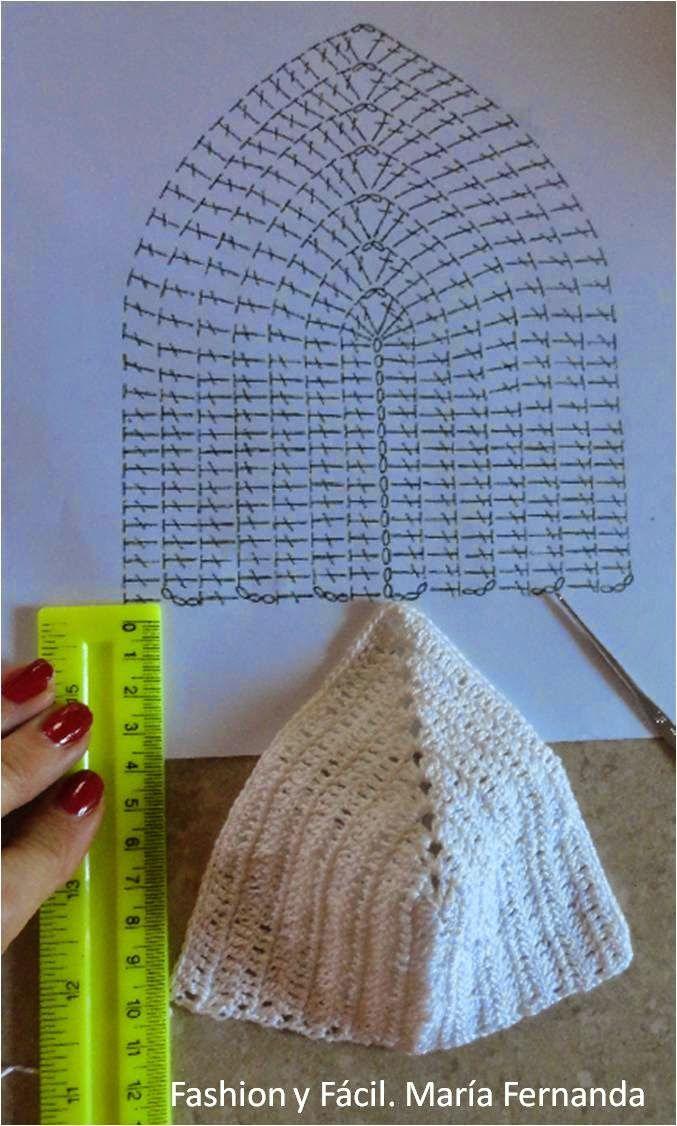 Crochet Bikini Top. Step by Step Photo Tutorial w/ Chart. http://fashionyfacil.blogspot.com/2014/07/como-tejer-unas-copas-para-hacer-un-top.html