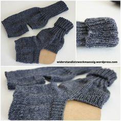Anleitung Yogasocken stricken ... tutorial:  knitted yoga socks